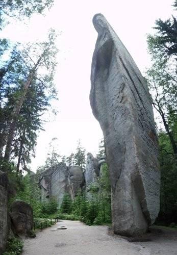 Adršpach a Křížový vrch