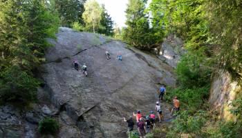 Kroužek lezení na skalách